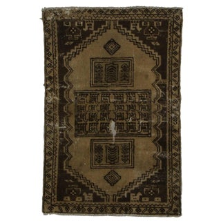 Vintage Mid-Century Persian Hamedan Hand-Knotted Petite Rug - 2′ × 3′1″ For Sale