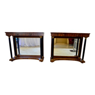 1920s Art Deco Rosewood Entry Tables - a Pair For Sale