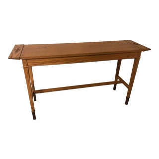 Vintage Mission Oak Wood Hall Table