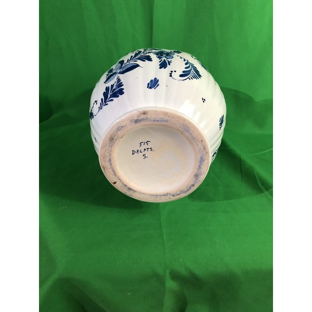 1950s Delft Vase Mid 19 Century For Sale - Image 5 of 6