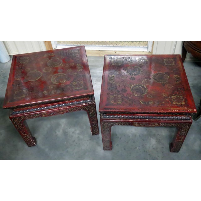 Wood 20th Century Asian John Widdicomb Side Tables - a Pair For Sale - Image 7 of 9
