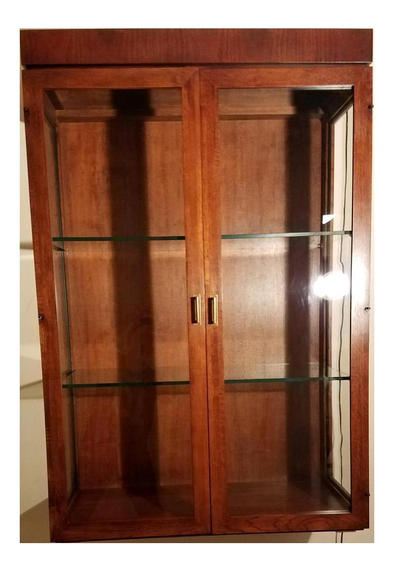 Founders Furniture Walnut U0026 Glass Wall Hung Display Cabinet