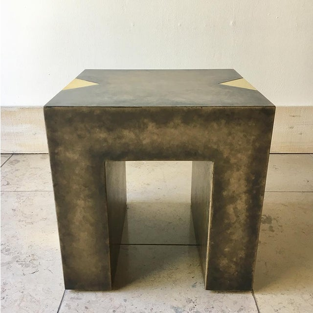 Pair of Square Bronze Collection Side Tables by Talisman Bespoke For Sale - Image 9 of 10