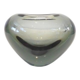 Vintage Holmegaard Per Lutken Glass Heart Vase For Sale