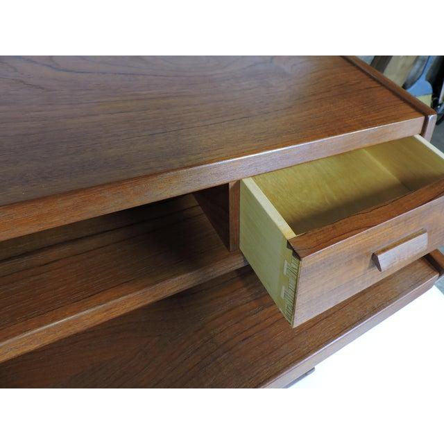 1960s Arne Wahl Iversen Danish Modern Teak Secretary Desk Model 70 For Sale - Image 5 of 12