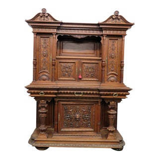 Renaissance Style Carved Cupboard