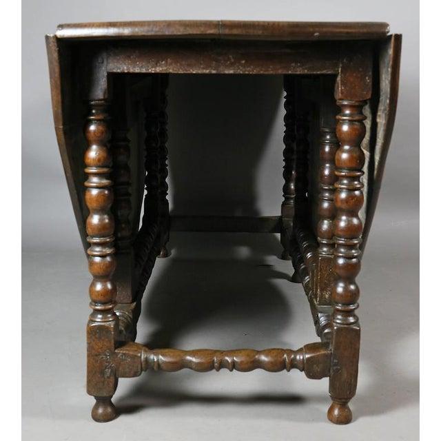 17th Century Large Jacobean Oak Gateleg Table For Sale - Image 5 of 11