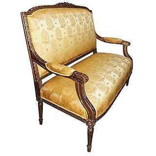 Antique Gilt French Settee For Sale