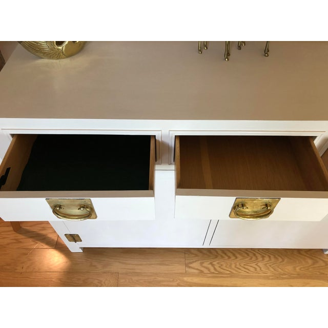 1960s 1960's White Credenza by John Stuart For Sale - Image 5 of 9