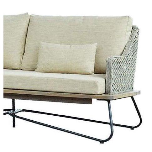 Boho Chic Mona Indonesian Rattan Apartment Sofa For Sale - Image 3 of 4