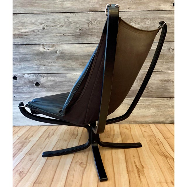 Canvas 1960s Sigurd Ressell Highback Falcon Lounge Chairs - a Pair For Sale - Image 7 of 13
