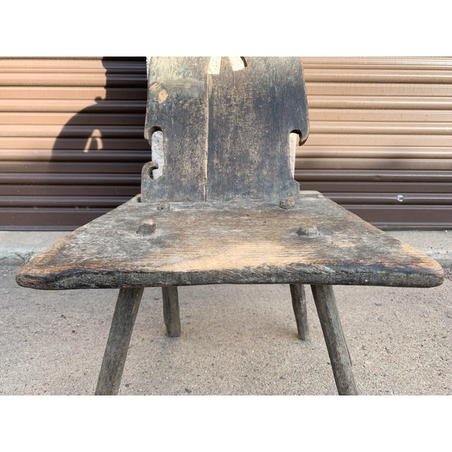 Rustic European Mid 18th Century Rustic Bavarian Childs Chair For Sale - Image 3 of 10