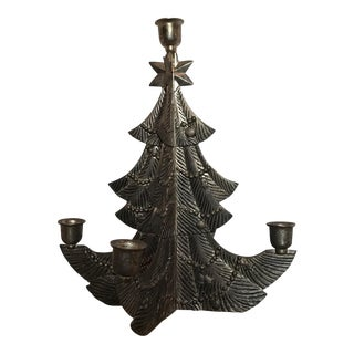 Godinger Bronze Tree Candleholder For Sale