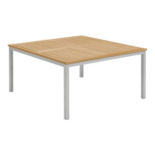 "60"" Square Outdoor Dining Table, Natural For Sale"