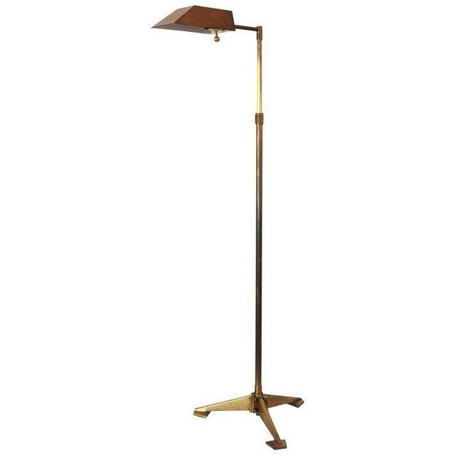 High-End Chapman Brass Tripod Floor Lamp | DECASO