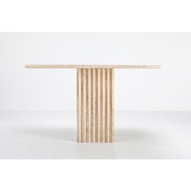 1970s 1970s Travertine Dining Table Carlo Scarpa For Sale - Image 5 of 9