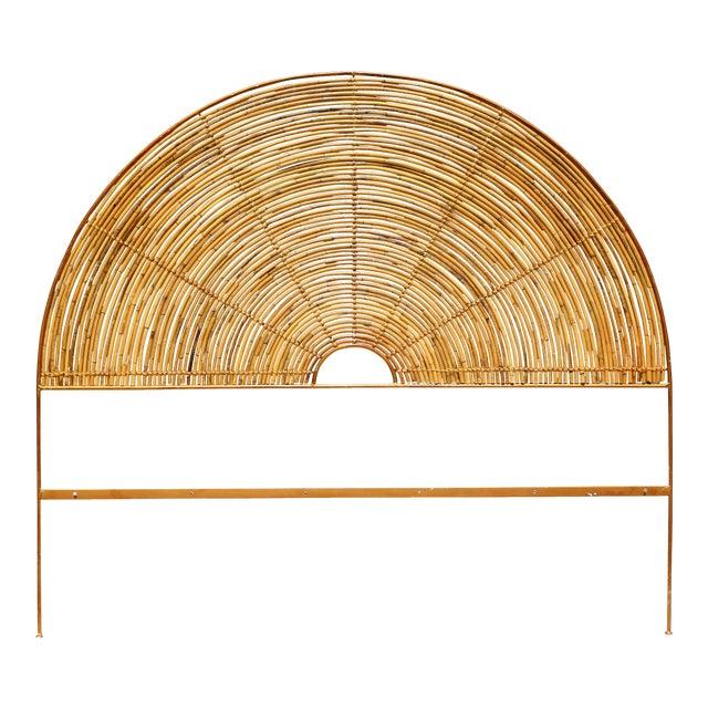 on sale 2580d d3346 Vintage Bent Bamboo Sunburst Queen Headboard