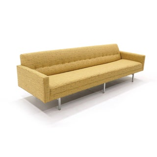 "George Nelson Modular Group Sofa & Chair in Nos Alexander Girard ""Lines"" Fabric Preview"