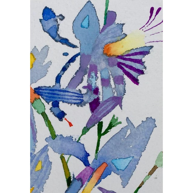 "Contemporary ""Butterfly Lilies 1"" Watercolor Painting For Sale - Image 3 of 3"
