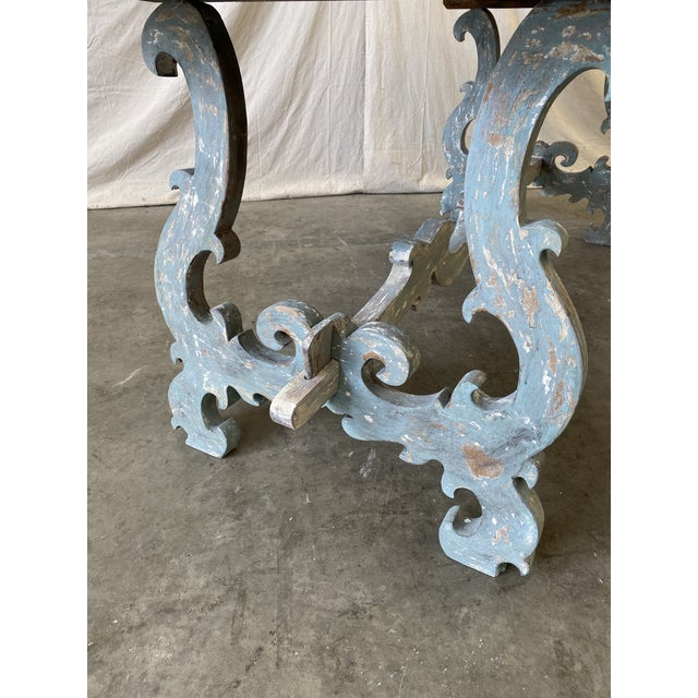 Tuscan Painted Trestle Dining Table For Sale - Image 11 of 13