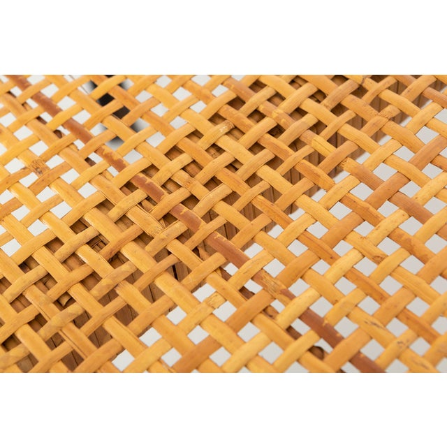 Black Danny Ho Fong Hand-Woven Reed Dining Table For Sale - Image 8 of 11