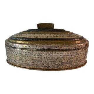 Vinage Tri-Tone Tin Box For Sale