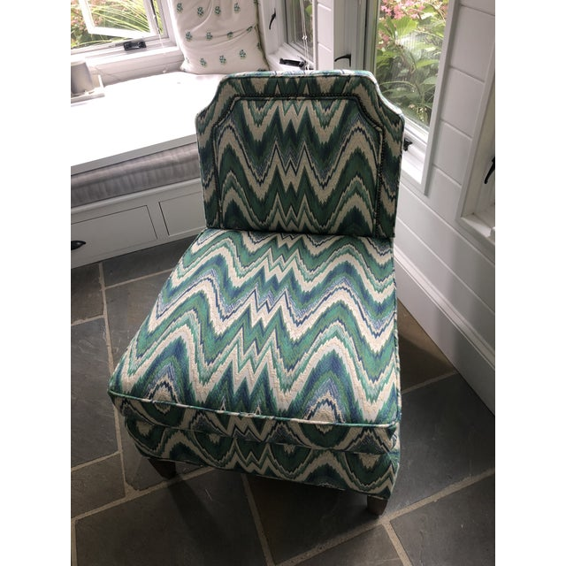 Custom Highland House Luc Slipper Chair For Sale In Boston - Image 6 of 9
