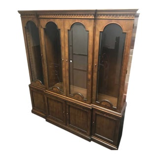 Henredon 18th Century Portfolio Collection Breakfront China Cabinet For Sale