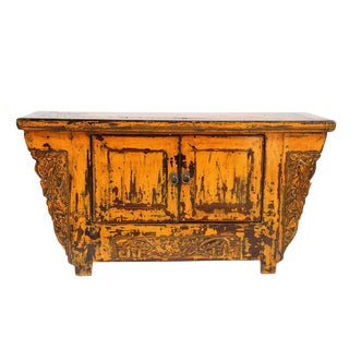 Ming Vintage Yellow Cabinet