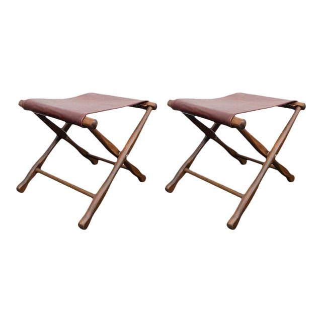 Pair of Folding Stools For Sale