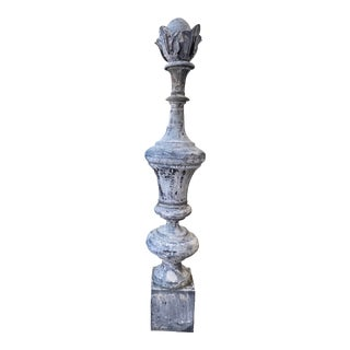 Early 20th Century French Zinc Finial For Sale
