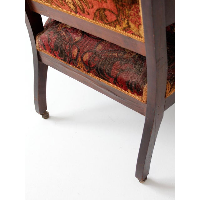 Antique Upholstered Arm Chair For Sale - Image 11 of 11