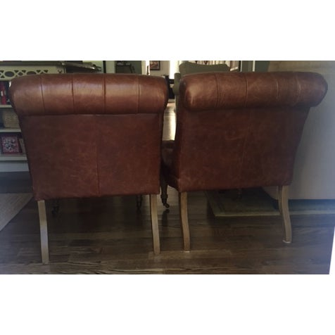 Pottery Barn Carolyn Tufted Chairs - A Pair - Image 5 of 8