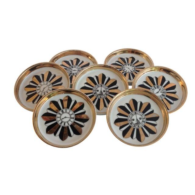 Shafford Porcelain Coasters - Set of 7 For Sale
