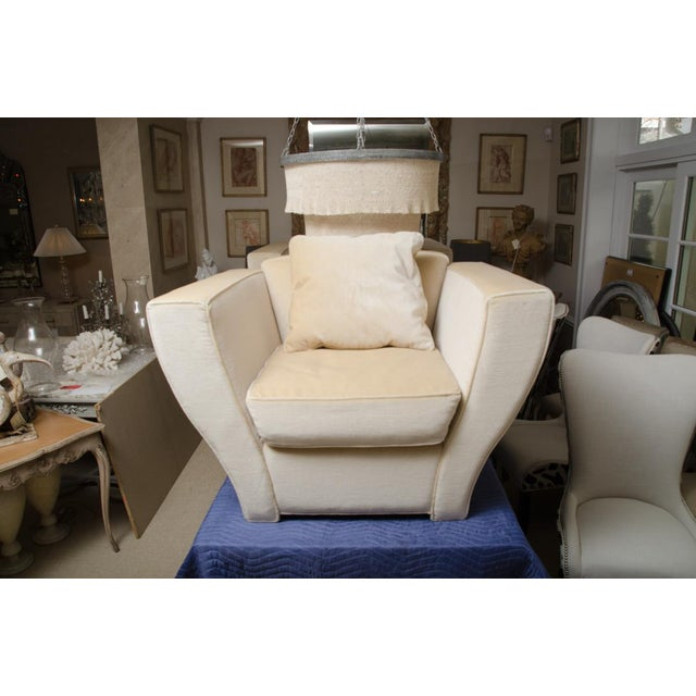 Brueton Oversized Lounge Chair Upholstered in Mohair For Sale - Image 9 of 9