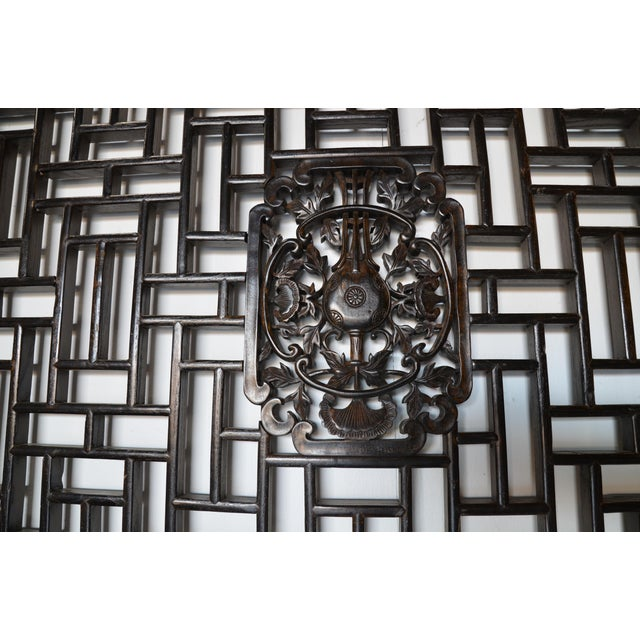 Geometric Chinese Wall Panel For Sale - Image 4 of 5