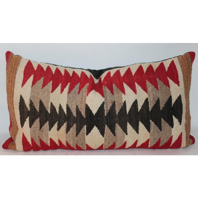 Navajo Saddle Blanket Bolster Pillows - Collection of 3 For Sale In Los Angeles - Image 6 of 13