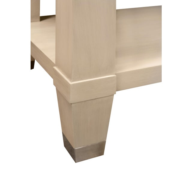 Oyster Gray Kindel Furniture Garden Street Multifunctional Console For Sale - Image 8 of 10