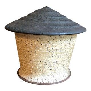 """""""Water Tower"""" Dan Anderson Ceramic Covered Jar"""