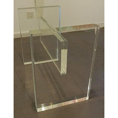 1970s 1970's Lucite Executive Desk / Dining Table For Sale - Image 5 of 13