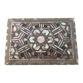 Egyptian Mother of Pearl Handmade Wooden Inlaid Jewelry Box For Sale