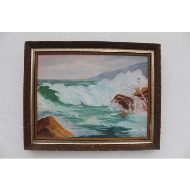 Ocean Scene, Oil Painting by Jean Papenfus For Sale - Image 11 of 11