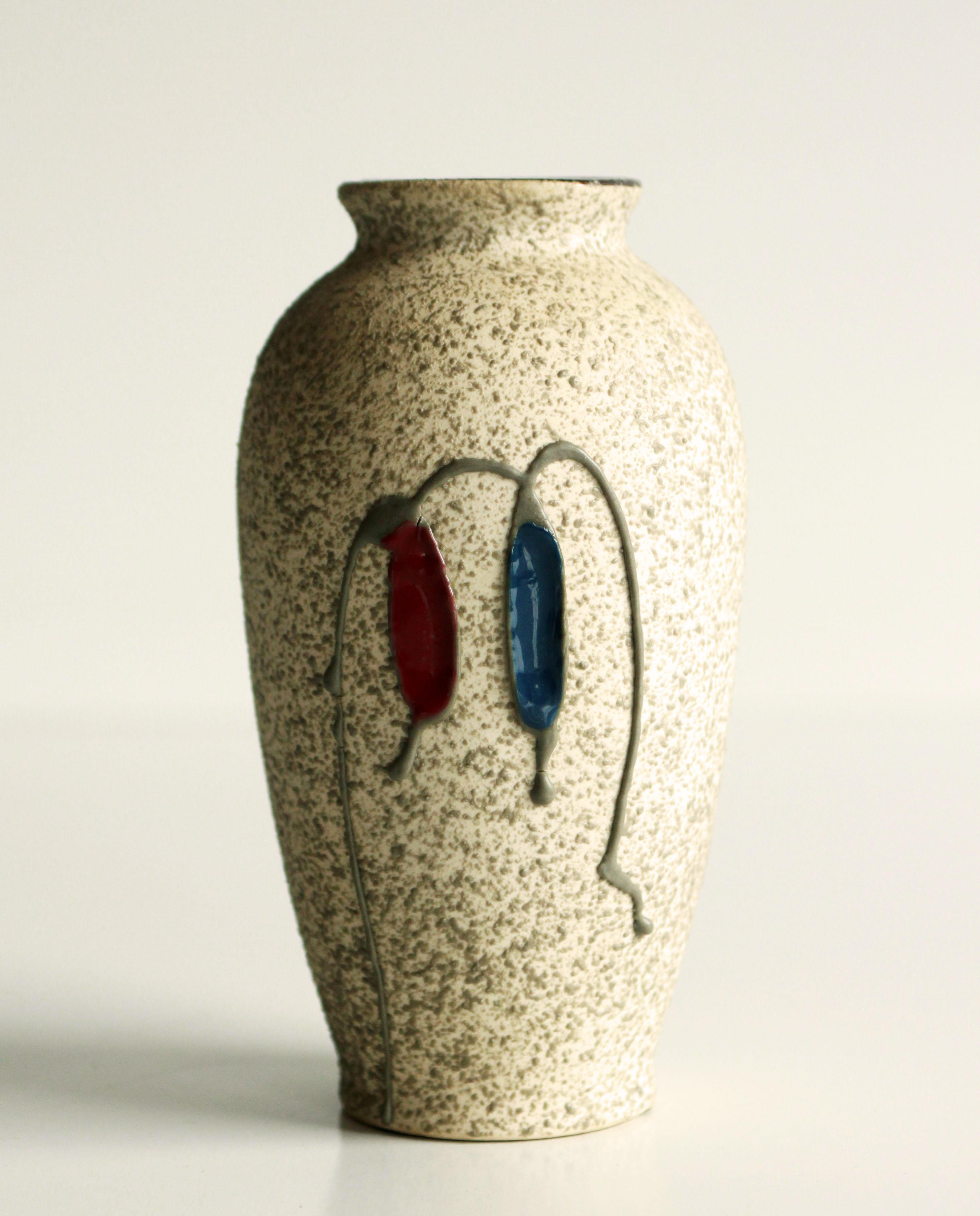 Vintage Mid-Century Modern Art Pottery Vase Signed FREEMAN