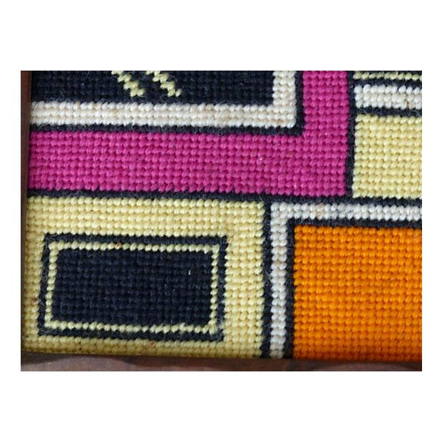 Framed Needlepoint Textile, Dated 1972 - Image 6 of 10