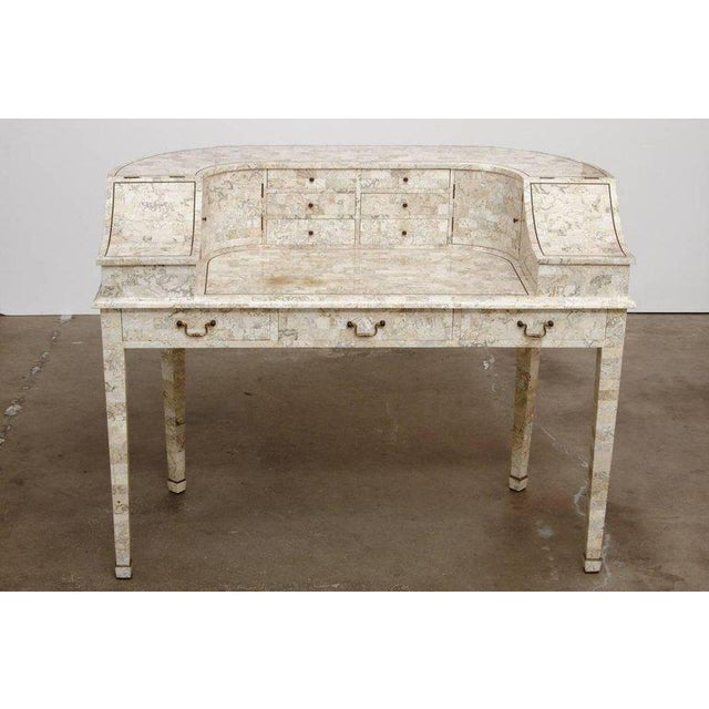 Maitland - Smith Tessellated Stone Carlton House Desk by Maitland-Smith For Sale - Image 4 of 13