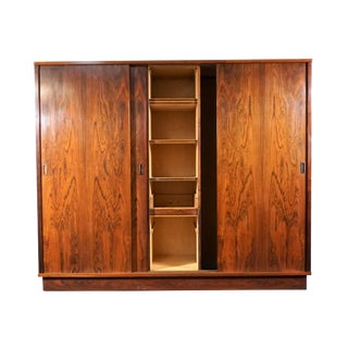 Danish Mid Century Rosewood Wardrobe Armoire