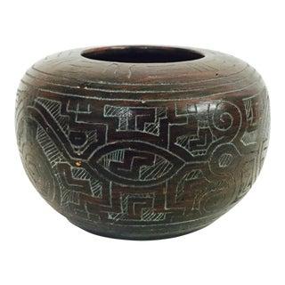 Vintage Hand Carved Vase