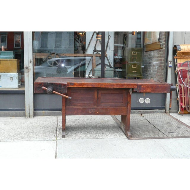 Enjoyable 20Th Century Industrial Cabinet Makers Workbench Gmtry Best Dining Table And Chair Ideas Images Gmtryco