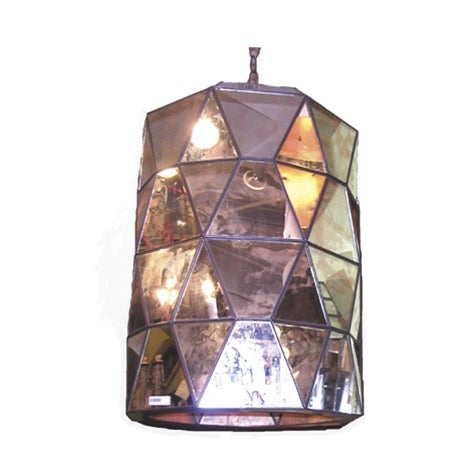 Moderna Antiqued Mirror Pendant Chandelier - Image 1 of 2