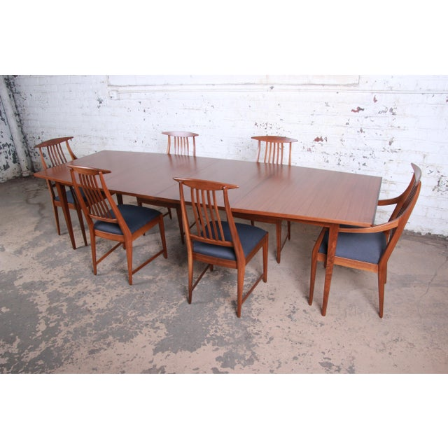 A rare and exceptional mid-century modern dining set designed by Kipp Stewart for his American Design Foundation line for...